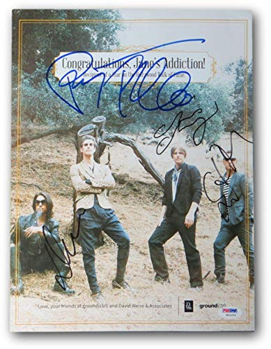 Jane's Addiction Signed Autographed 10X13 Promo Photo Ferrell Navarro W04254 - PSA/DNA Certified - Autographed Soccer Photos