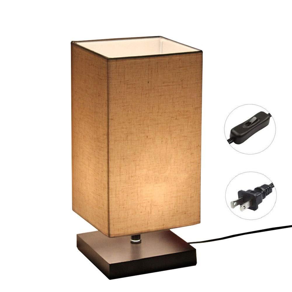 Minimalist Solid Wood Table Lamp Bedside Desk Lamp