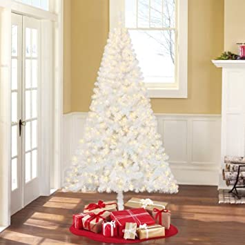 pre lit 65 madison pine white artificial christmas tree clear lights