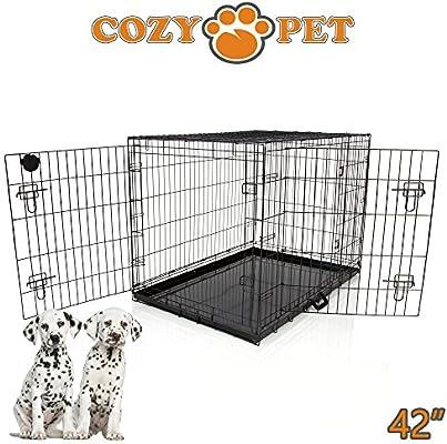 Cozy Pet - Jaula de transporte para perros, bandejas de metal, 5 ...