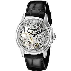 Thomas Earnshaw Men's ES-8049-01 Bauer Skeleton Analog Display Hand Wind Black Watch