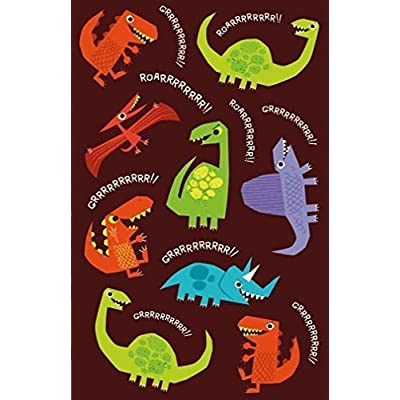 Peaceable Kingdom Glow in The Dark Dinosaur Stickers: Toys & Games