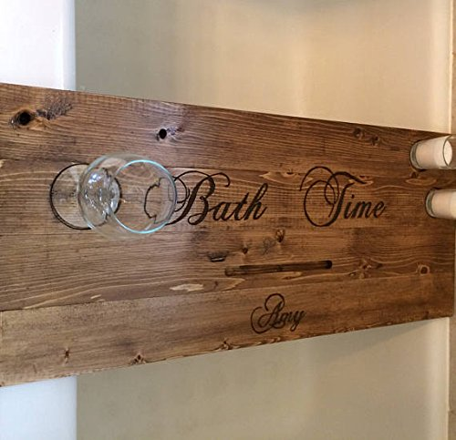 Amazon.com: Rustic Bath tray, bath caddy, personalized bath tray ...