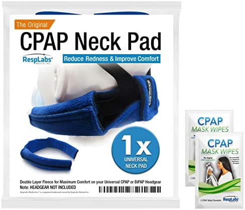 CPAP Neck Pad for Headgear Straps — The Original CPAP Neck Pad w/Built-in Strap Covers + Inclusions | Machine, Masks & Equipment Supplies by RespLabs