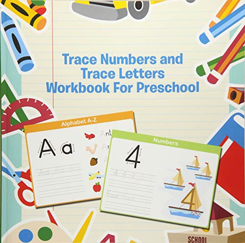 - Trace Numbers and Trace Letters Workbook For Preschool