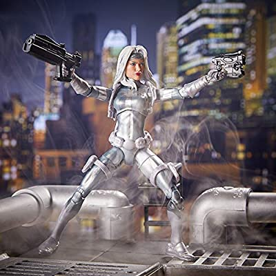 Spider-Man Legends Series 6-inch Marvel's Silver Sable: Toys & Games