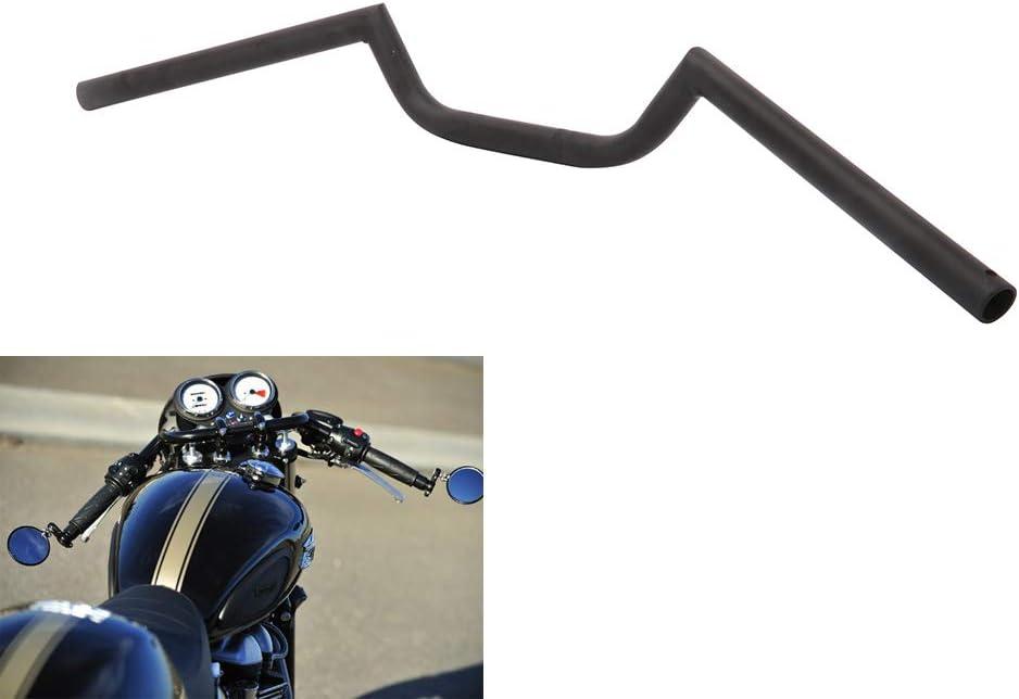 "AnXin Motorcycle 7/8"" Handlebar Cafe Racer Ace Clubman Style Handlebars 22MM Universal For Bobber Custom Application Black"