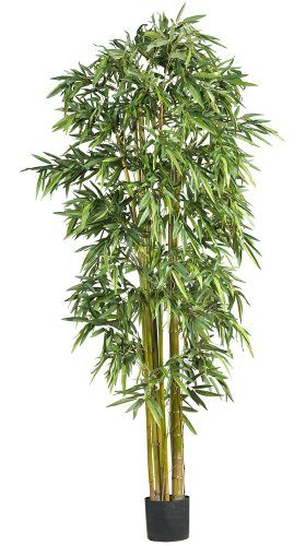 Nearly Natural 5191 Big Bamboo Silk Tree, 7-Feet, Green