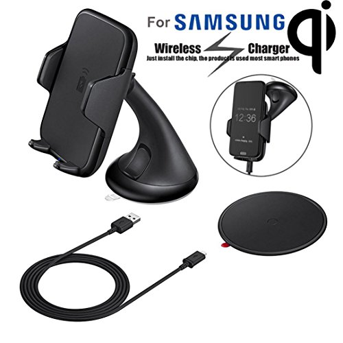 TOPUNDER Qi Wireless Charger Charging Car Mount Holder for Samsung Galaxy S7 Note 5 Lot