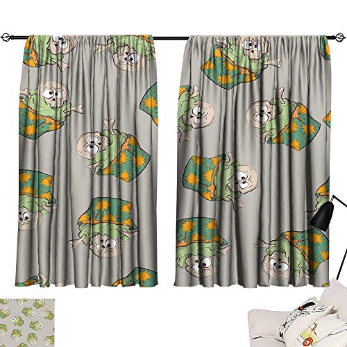 Hariiuet Thermal Curtains Seamless Halloween Party Pattern Wrapping with decorations4 54