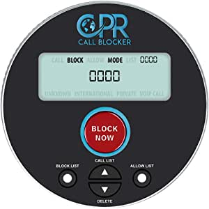 CPR V10000 Call Blocker with Dual Mode Protection - Add Numbers To the Block or Allow List For Total Protection - Block Robocalls, Scam Calls, and Unwanted Calls At the Touch of a Button