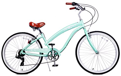 Cheap Fito Women's Modena 2.0 Aluminum Alloy 7 Speed Beach Cruiser Bike, Green, 15.5″/One Size
