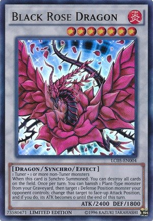 Yu-Gi-Oh! - Black Rose Dragon (LC5D-EN099) - Legendary Collection 5D's Mega Pack - 1st Edition - (Black Rose Dragon)