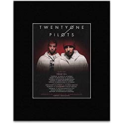 TWENTY ONE PILOTS - February 2016 Tour Of The UK Mini Poster - 13.5x10cm
