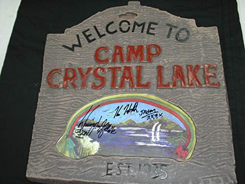 KANE HODDER & WARRINGTON GILLETTE 2X Signed Camp Crystal Lake SIGN Jason Voorhees Friday the 13th Autograph RARE