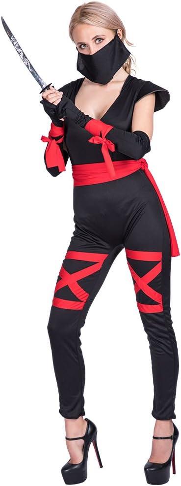 EraSpooky Disfraz de Ninja para Mujer Cosplay Disfraz de Fiesta de ...