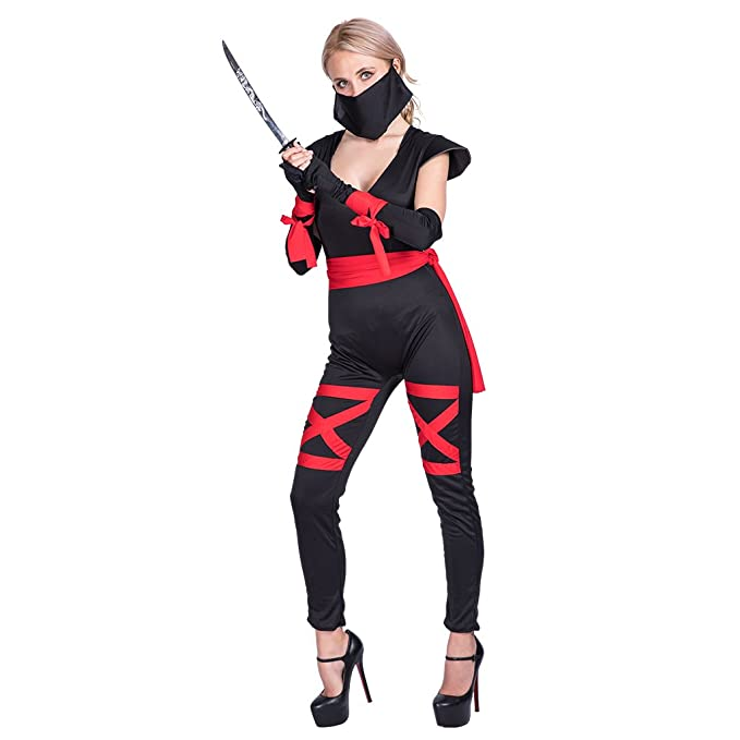 Amazon.com: EraSpooky Sexy Ninja Women Costume: Clothing