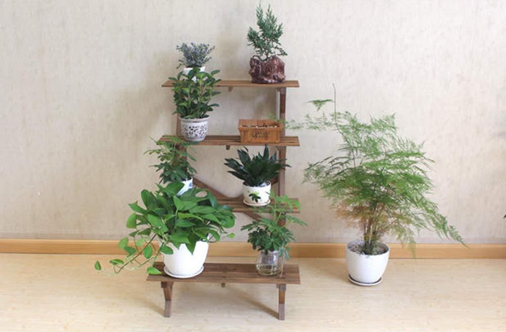 Flower Holder/Bonsai Display Shelf/Cuatro escaleras Ángulo Recto ...