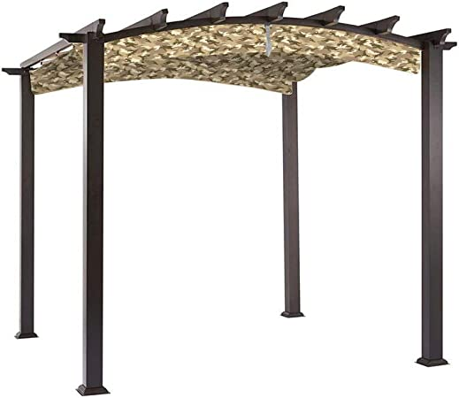 Amazon Com Garden Winds Replacement Canopy For The Hampton Bay Arched Pergola Standard 350 Camo Sand Garden Outdoor