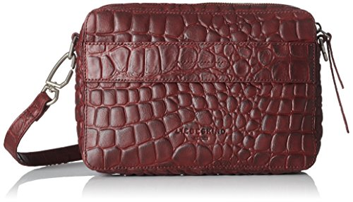 Liebeskind Berlin Women's Village Croco Embossed Leather Crossbody, Warm Burgundy by Liebeskind Berlin