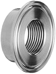 Dixon B23BMP-G150 Stainless Steel 304 Sanitary Fitting, Thermometer Cap, 1-1/2\