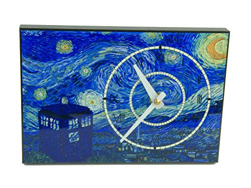 (Doctor Who Wall Clock Van Gogh Tardis on a Starry Night)