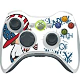 Cute Boy with American Flag Hat Happy 4th of July Quote Celebration Image Design Pattern Xbox 360 Wireless Controller Vinyl Decal Sticker Skin by Trendy Accessories