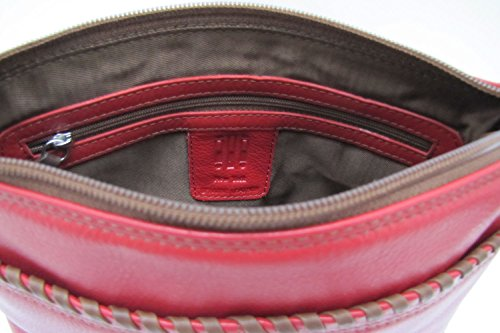 Blue ili 6689 Handbag Saddle West Whip Antique East Leather stitch Jeans Crossbody rrxFdzwnqa