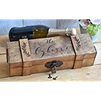Personalized Ceremony Wine Box with Lockable Hinge - Lockable Wine Box - Personalized Wine Box - Wine Box Gift - Personalized Gift