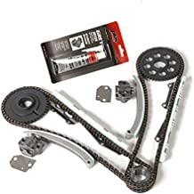 MOCA Engine Timing Chain Kit for 1996-2001 Ford Mustang Expedition F-150 & Mercury Cougar & Lincoln Town Car 4.6L SOHC V8 16V W X - Romeo