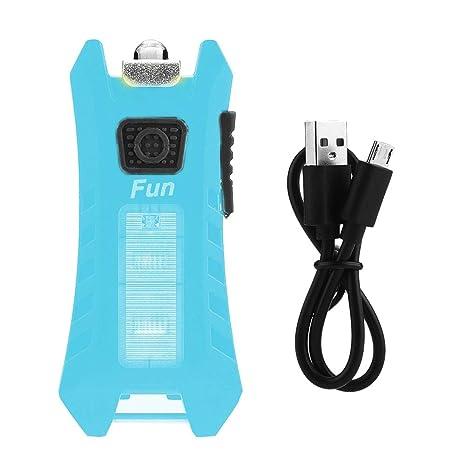 Riurity Mini Linterna LED, Recargable Llavero Linterna ...