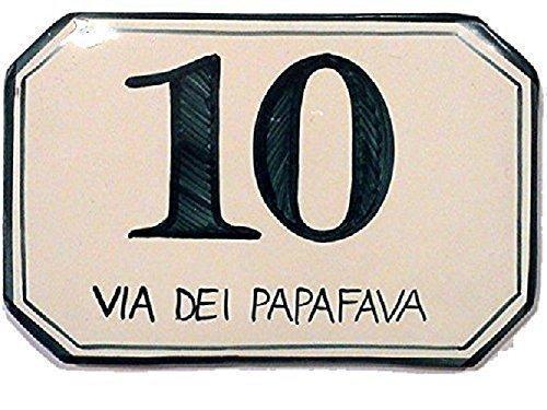 Numeri civici e targhe in ceramica ordina qui il tuo numero