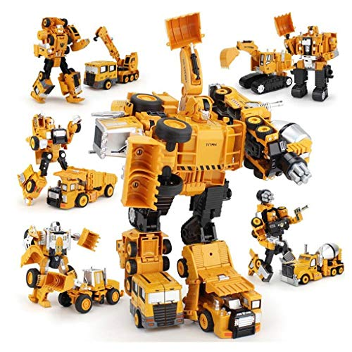 Transformers Toy,Construction Engineering Car,Deformed Car Toy,Heroes Rescue Bots,5-in-1 Combat Robot Toy Model – Best…
