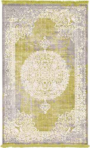 Unique Loom New Classical Collection Traditional Distressed Vintage Classic Light Green Area Rug (3' 3 x 5' 3)