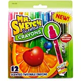 Mr. Sketch Scented Twistable Crayons, Assorted, 12-Pack (1951200)