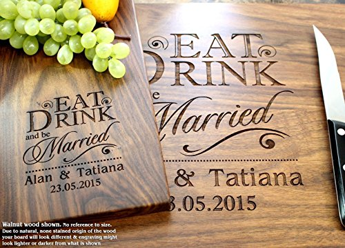 Wedding Gifts Buy Online: Eat Drink And Be Married Personalized Engraved Cutting
