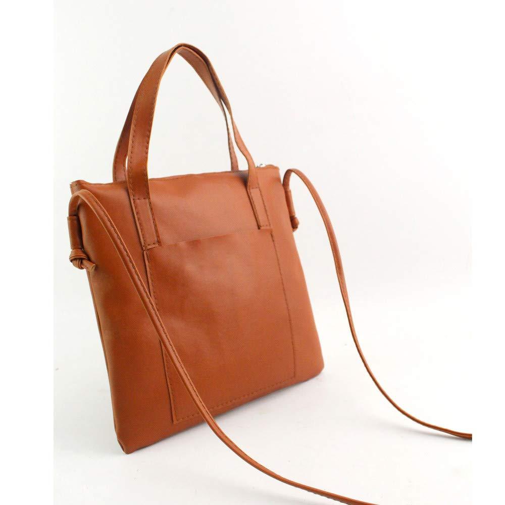ABCOnline Women Fashion Handbag Shoulder Bag PU Leather Tote Ladies Crossbody Bag (8.85\'\'X0.79\'\'X8.46\'\', Brown)
