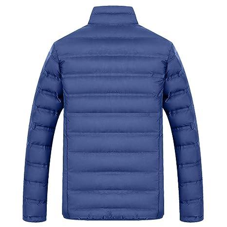 Chaqueta De Invierno Hombre Chaqueta de Pluma Hombres Abrigo de Invierno Abrigo Parka Deportiva Chaquetas Outwear Casual Jacket Cazadora Mangas Largas ...
