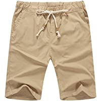 NITAGUT Men's Linen Casual Classic Fit Short