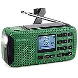 TIVDIO HR-11S Portable AM FM Shortwave Radio Hand Crank Solar Emergency with Wireless