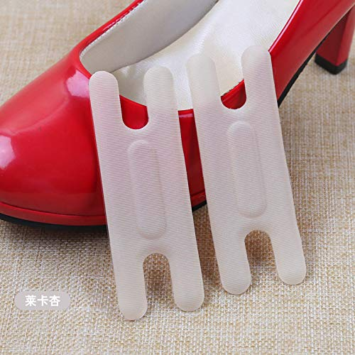 (2 Pairs H Shape Self-Adhesive Anti-wear High Heel Stickers - Heel Grips/High Heel Inserts/Heel Snugs/Shoes Cushion Affixed Care for Women - Blister Prevention (Lycra Beige))