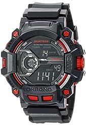 Armitron Sport Men's 40/8353YLW Digital Chronograph Grey Resin Strap Watch