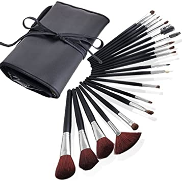 Brochas 20 set piezas pincel Esteticien + Estuche para Maquillar Brocha Maquillaje Cosmético: Amazon.es: Deportes y aire libre