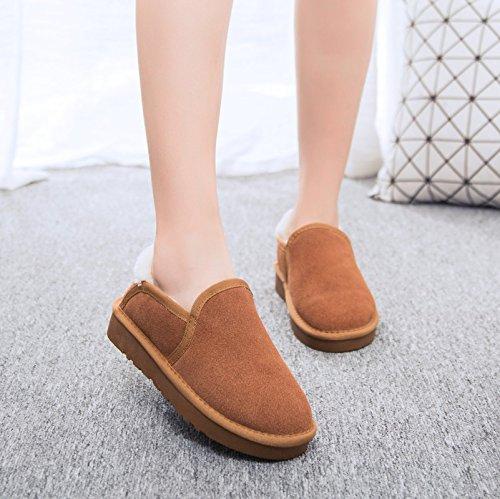 lazy monoblocco piedi cotone pane scarpe maroon Le caldo slip aiutare coppie per corto qvHIw8S