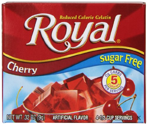 Royal Cherry Gelatin Dessert Mix, Sugar Free and Carb Free (12 - .32oz Boxes)