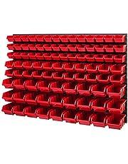 Opslagsysteem 780x1158mm Stapelboxen Wandplank Opslagbakken Opbergsysteem 91 dozen
