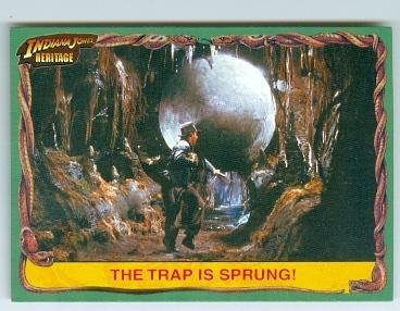Indiana Jones trading card 2008 Topps Heritage #4 Running from the Ball Harrison Ford (Signed 2008 Topps Card)