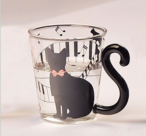 Milk Bone Dog Costume (JD Million shop Tail Black Cat Kitty Water Glass Cup Mug Milk Tea Coffee Fruit Juice Mug Drinkware)