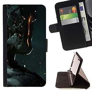 DEVIL CASE - FOR LG G3 - Robot Fire Ai Technology Futurism Art Man - Style PU Leather Case Wallet Flip Stand Flap Closure Cover