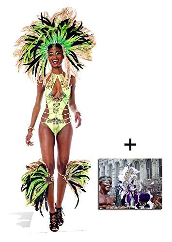 Fan Pack - Brazilian Madi Gras Carnival Babe lifesize Cardboard Cutout 2D Standup / Cutout Plus 20x25cm Photo by BundleZ-4-FanZ Fan Packs by Starstills by BundleZ-4-FanZ Fan Packs by Starstills